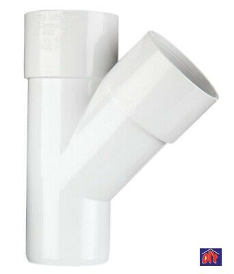 "40mm 1 1//2/"" Y Branch Waste Pipe 45° Junction Solvent Weld Glued grey"