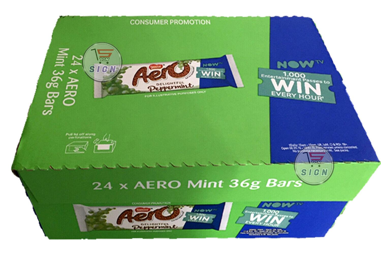 Nestle Aero Peppermint Chocolate Bars Pack Size = 24x36g