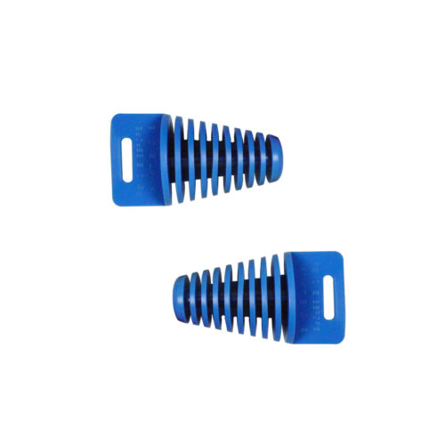 2pcs BIG BLUE EXHUAST PIPE MUFFLER SILENCER WASH 4-STROKE PLUG FOR SCOOTER