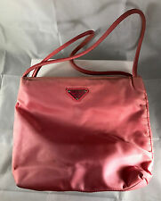 Vintage Pink Nylon Prada Shoulder Tote Bag item# F01160