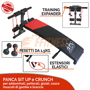 PANCA SOLLEVAMENTO PESI AB SIT UP PALESTRA ALLENAMENTO CASA TRAINING FITNESS FIT