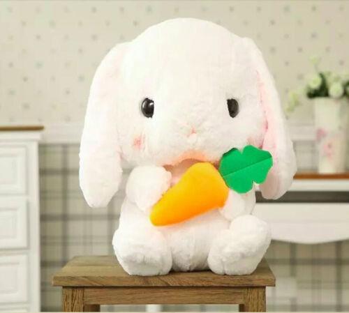 Lop Rabbit With Carrot Stuffed Animal Cute Rabbit Cartoon Plush Doll Toys 22cm