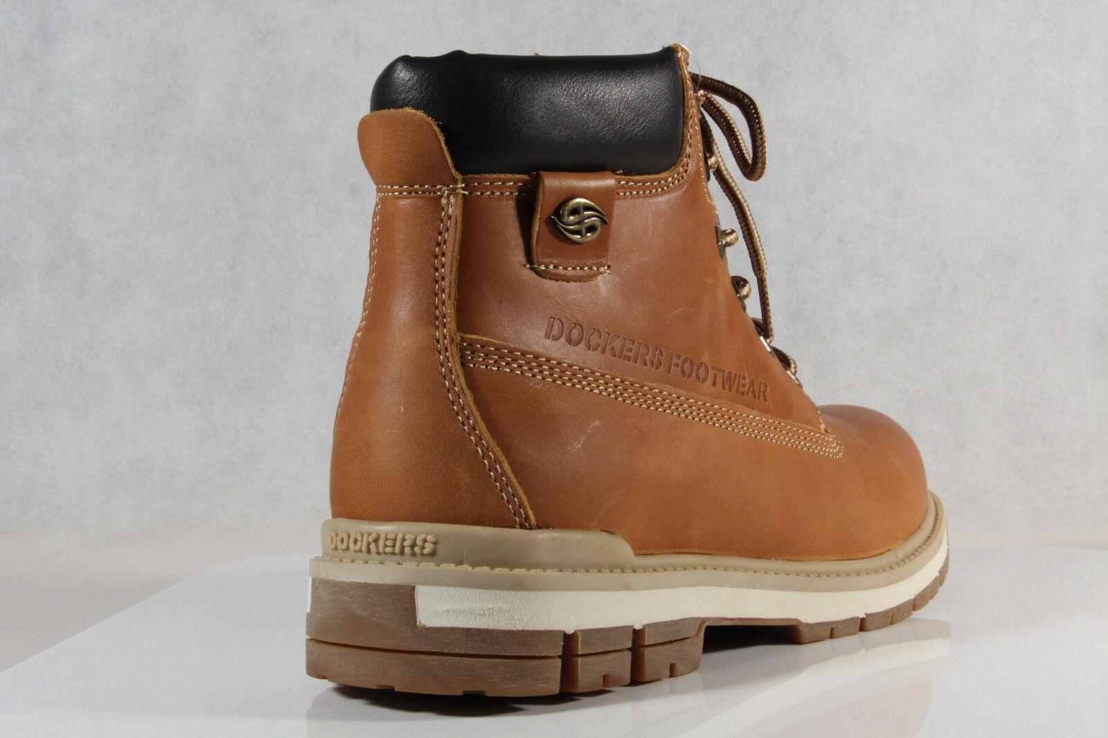 DOCKERS Stiefeletten Boots Winter Leder Schuhe warm braun NEU