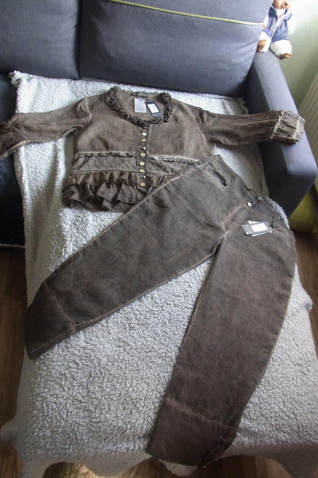 2 teiliges Set bestehend aus Bluse und Hose - Neu mit Etikett in Größe 40 / 42