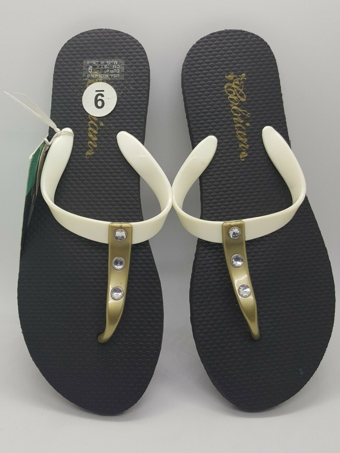 COBIAN WOMENS SIZE SANDALS WHITE AND GOLD SIZE WOMENS 9 9d8c15