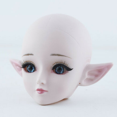 60cm 1//3 Dolls Plastic Head 3D Big Eyes for Doll Body Parts DIY Replacement