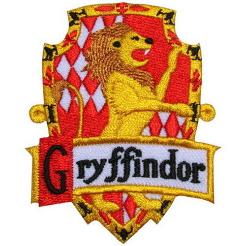 Harry Potter House GRYFFINDOR Crest Badge Iron on Patch