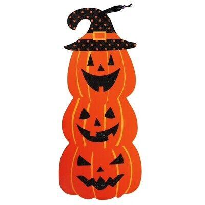 THE BLACK HAT PUMPKIN PATCH    primitive wood sign Halloween