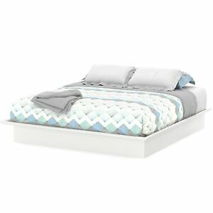 Platform Bed Full Queen King Size Sizes White Color
