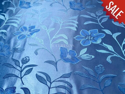 Material de la Tela Azul Floral Cortina Cojín Venta