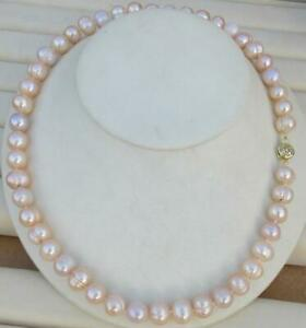 New AAA10-11mm Genuine Natural Purple Lavender south sea pearl necklace 14k gold