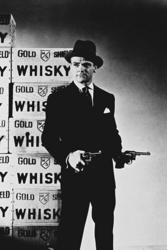 JAMES CAGNEY ICONIC GUNS WHISKY POSE 36X24 POSTER PRINT