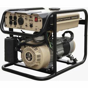 4000-Watt Dual Fuel Portable Generator Power Compact Sportsman Recoil Start