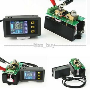 DC 120V 200A Wireless DC Voltmeter Ammeter Power Meter Capacity Coulomb Counter
