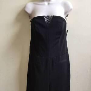 695 Chiara Boni Sz Strapless Robe 48 Lace Mrsp Petite Di Inset Jumpsuit La 1pH47q7