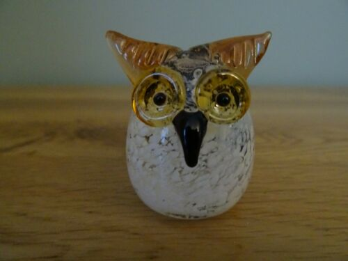 Owl Collectable Miniatures Boxed Objets D/'art Glass Ornament Flamingo Parrot