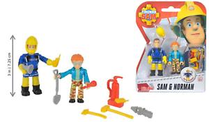 Fireman Sam Figures SAM & NORMAN Toy Set Simba NEUF