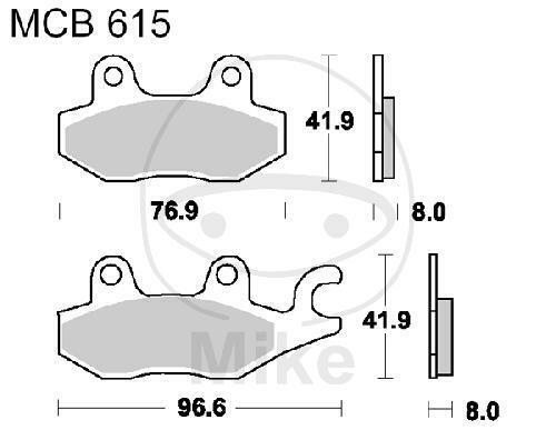 TRW Plaquette de Frein Standard MCB615 Moto