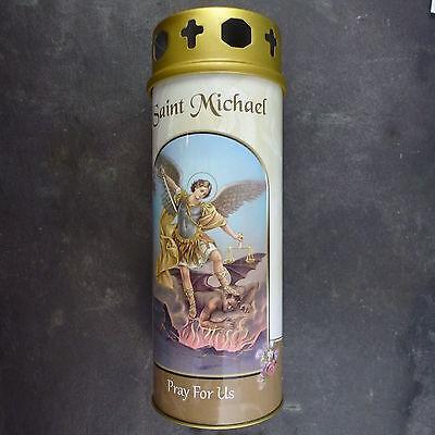 St Philomena pillar candle 60 hour burn Novena Prayer Saint Catholic 15cm White