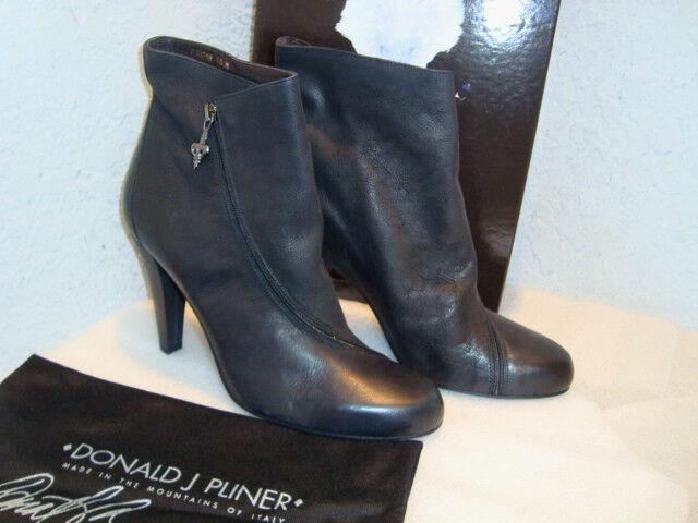 Donald J Pliner Womens NWB Dugan Blk Antique Vachetta Ankle Boots shoes 10 M NEW
