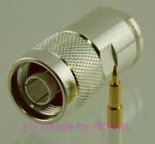 Coax Connector Silver N Male Clamp fits LMR400 9913 Coax Cable - by W5SWL ®
