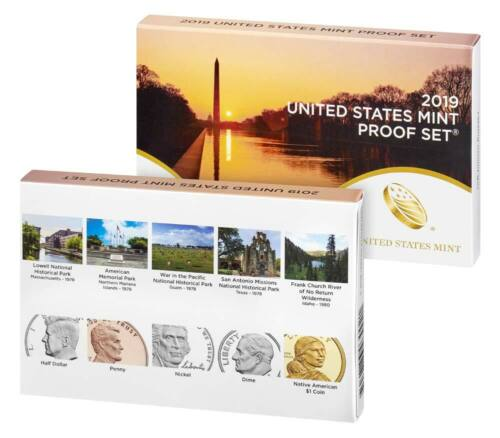 2019 U.S MINT 10 COIN PROOF SET w// AB QUARTERS    ** In Stock **