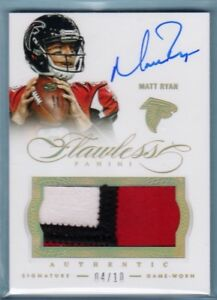2014-Flawless-Matt-Ryan-Auto-3-Color-Game-Used-Jersey-Patch-10-Falcons