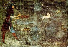 Vecchia cartolina Arte-Avignone-Matteo Giovanetti-la chasse au Furet