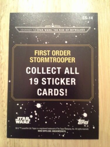 Topps Star Wars Journey to The Rise of Skywalker Character Sticker singles