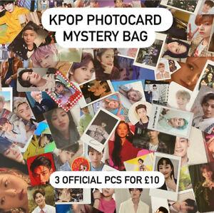 Kpop-Photocard-Mystery-Bag-3pc-Wayv-Day6-The-Boyz-Loona-BTS-Official-Photocard