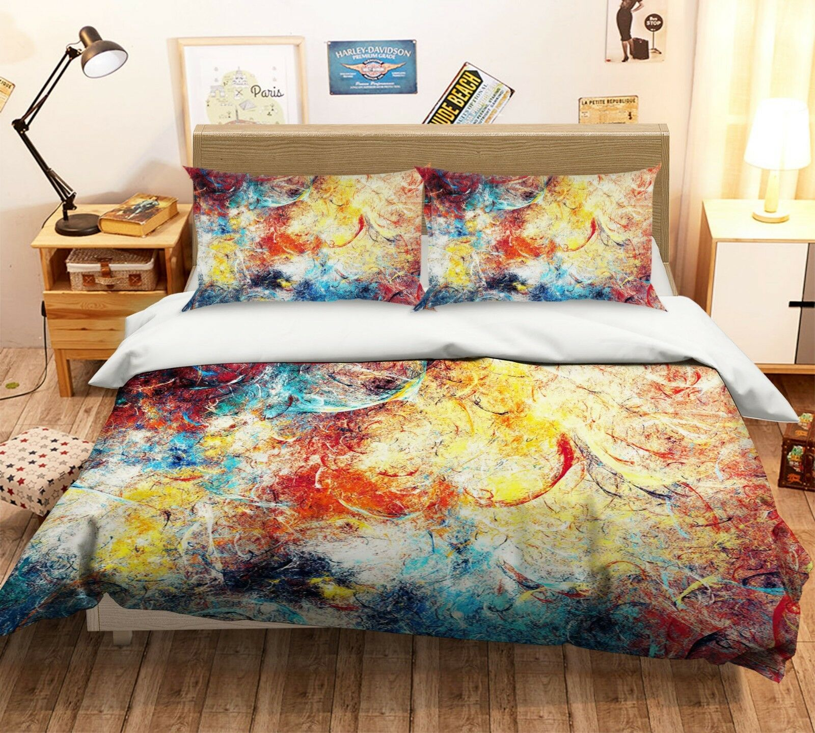 3d Graffiti restaurando 5 LETTO FEDERE steppe duvet set soffitto Single de