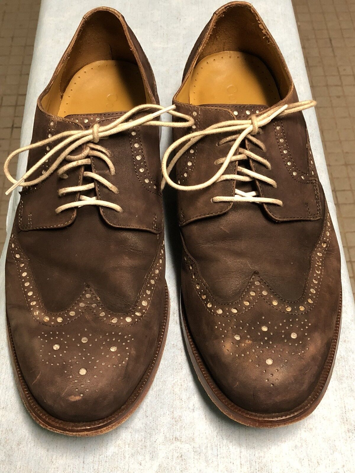 Cole Haan Brown Suede Wingtip shoes Size 10 M