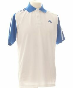 Polo Homme Adidas Taille 38 - T2 - M Blanc Homme