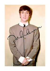 John-Lennon-2-The-Beatles-A4-signed-photograph-poster-Choice-of-frame