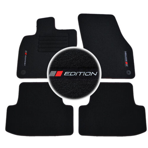 4 TAPIS SOL SEAT ATECA REFERENCE STYLE 2016-UP MOQUETTE LOGO EDITION SUR MESURE