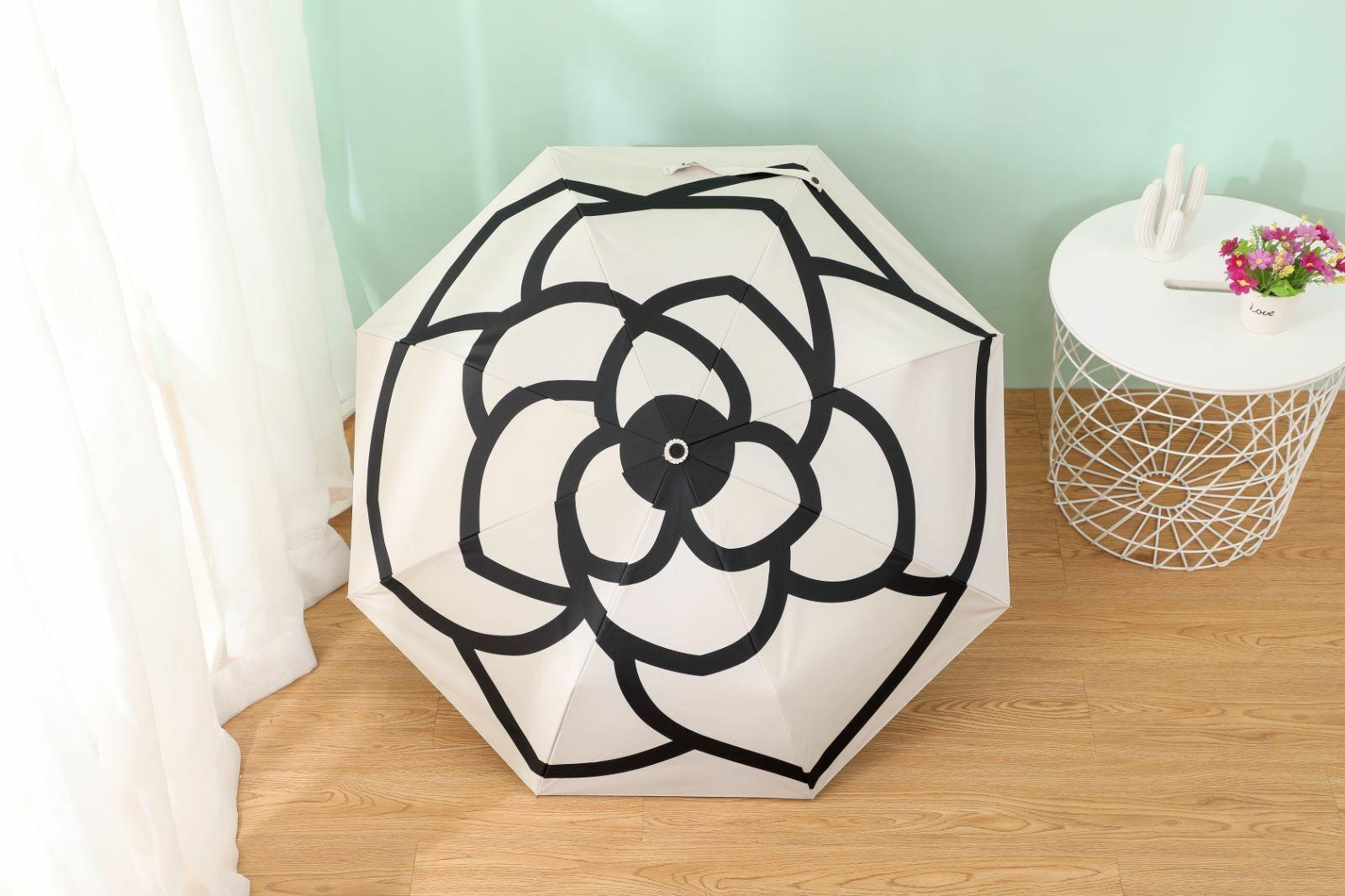 Paraguas Automático De Lluvia Plegable Mujer marcas de lujo Sol UV Transparente Flor