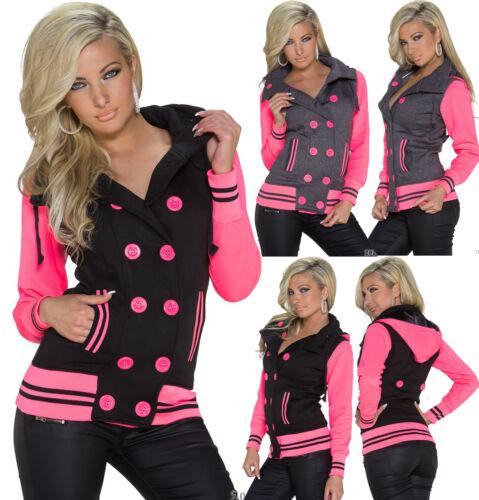 Haut Femme Hoody Clubbing Veste Femmes Parti Parka Cardigan Taille 8 10 12 14