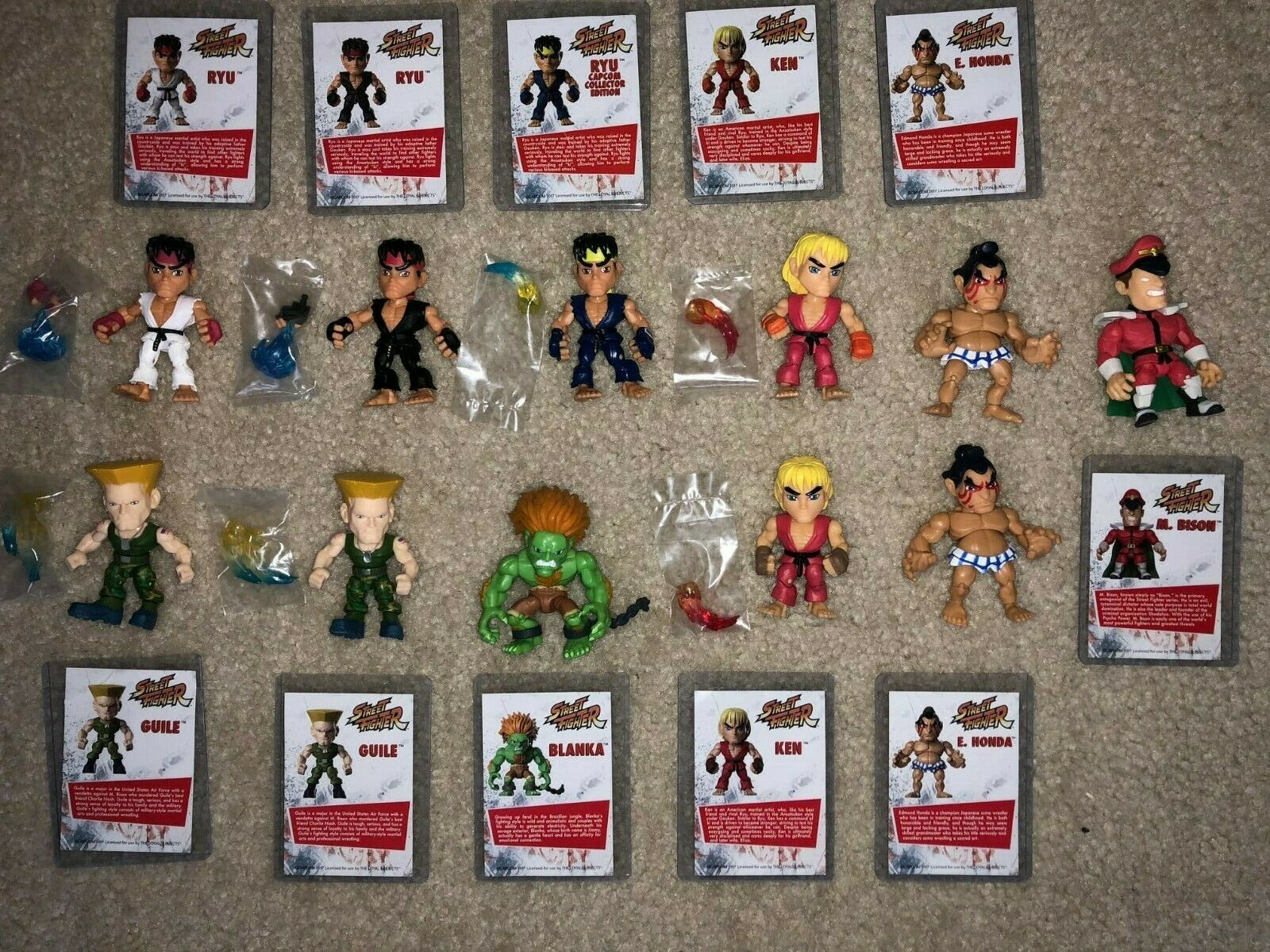 Loyal Subjects STREET FIGHTER Huge NEW Lot of 11 Figures w cards  RARE
