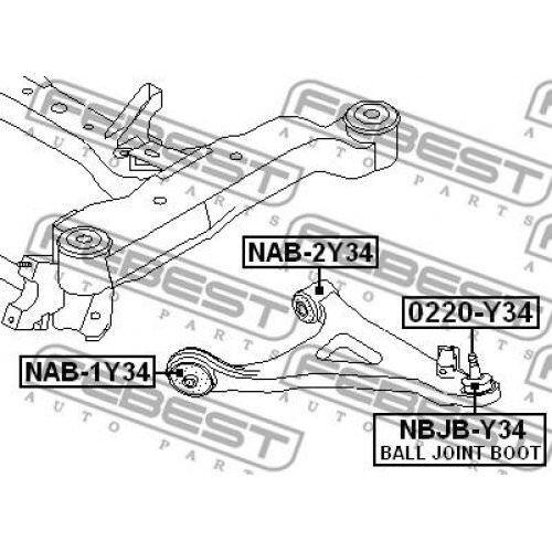 FEBEST Control Arm-//Trailing Arm Bush NAB-1Y34