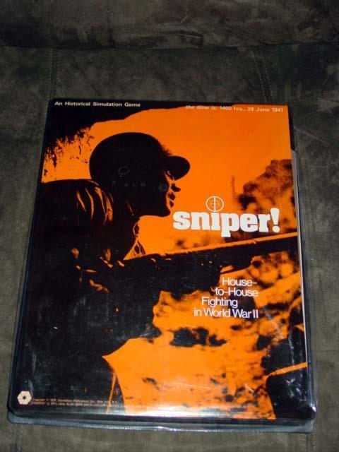 SPI Simulations publications 1973-SNIPER  Jeu Maison pour maison de combat en WW2