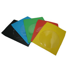 1000 Assorted Color CD/DVD Paper Sleeve with Window Red,Green,Blue,Yellow,Black
