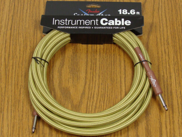Fender Custom Shop 5/' Black Tweed Instrument Cable