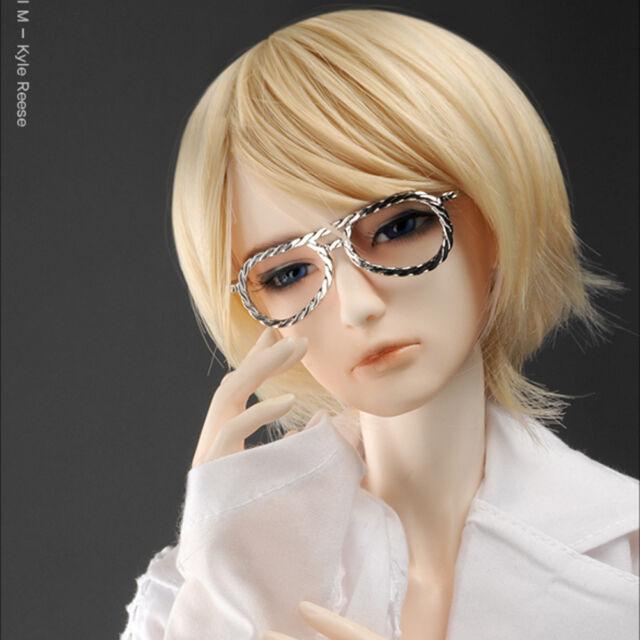 Round Steel Lensless Frames Glasses DOLLMORE BJD NEW Mokashura Size Violet