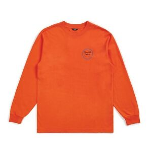 BRIXTON-WHEELER-II-L-S-TEE-SHIRT-ORANGE