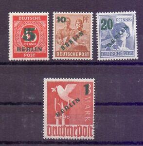 Berlin-1949-Gruen-Aufdruck-MiNr-64-67-postfrisch-Michel-250-00-973