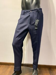 Pantalone-Gazzarrini-art-pass026-vestibilita-regular-in-tweed-di-lana-colore-blu