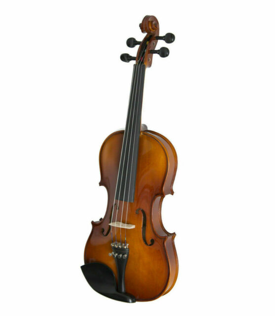 Cecilio CVN-300 Full Size Ebony Fitted Solid Wood Violin With Tuner With... - $199.99