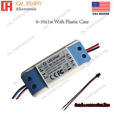Constant Current LED Driver 6W 10W 6-10X1W Lamp Light Bulb Power Supply USA