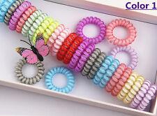 5Pcs Elastic Rubber Hairband Telephone Line Hair Rope Bands Headwear