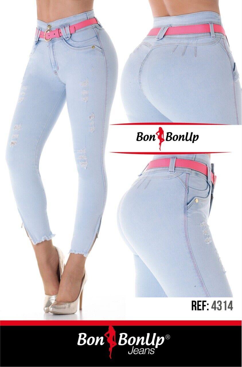 4314 Bon Bon Up Jeans debout Cola Jeans Colombianos Butt Lifter debout Pompis